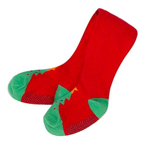 Collants pour bébés, Meedot Kids Coton Filles Panty Tuyaux complet à cheville Legging Bas red/green M/12-24 Months
