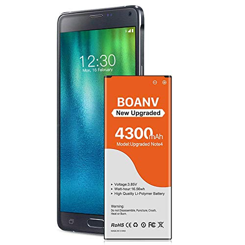 Galaxy Note 4 Battery,[2021 New Version] 4300mAh Replacement Battery for Samsung Galaxy Note 4 N910, N910A(AT&T), N910T(T-Mobile), N910V (Verizon), N910P(Sprint), N910U LTE