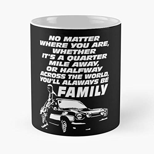 and Oconner Walker Furious Brian 2020 Rip Fast 9 Paul Fastandfurious Movie Best Mug hält Hand 11oz aus weißer Marmorkeramik