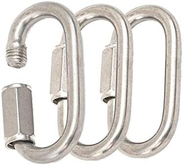 2 inch Carabiner Quick Link Chain Connector Safety Hook 3 Pack 990 lb 449 1 kg Working Load product image