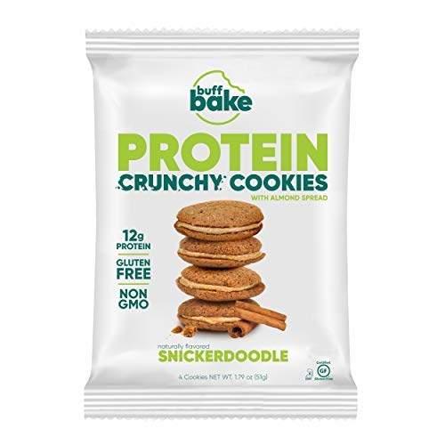 Buff Bake Protein Sandwich Cookie | Snickerdoodle | Crunchy | Gluten Free | Non-Gmo Ingredients | 12g of Hormone-Free Whey Protein | (8Count, 1.79 Oz) by Buff Bake