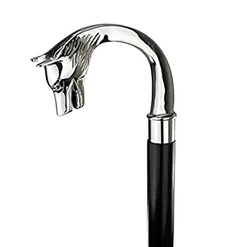 REPLICA WAREHOUSE WOLF HEAD Brass Handle Walking Stick Design Vintage Victorian Walking Stick