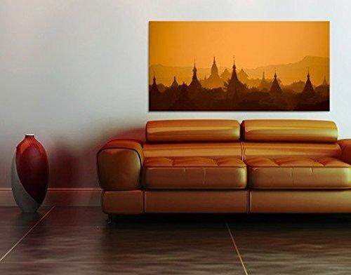 Cuadro en lienzo Town Of Temples In Myanmar, cuadros, cuadro lienzo, cuadro de lienzo, cuadro sobre lienzo, cuadro moderno, cuadro decoracion, cuadros decorativos, cuadro xxl , Tamaño:125cm x 250cm