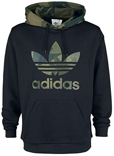 adidas Herren CAMO OTH Sweatshirt, Black/Multicolor, S