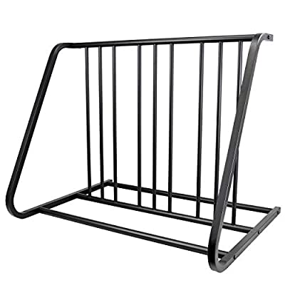 CyclingDeal Bike Floor Parking Indoor Rack Storage Stand for 6 Bicycle in Garage or Home Organizer and Upright Park Your Road, Mountain,Kids or Hybrids Bikes