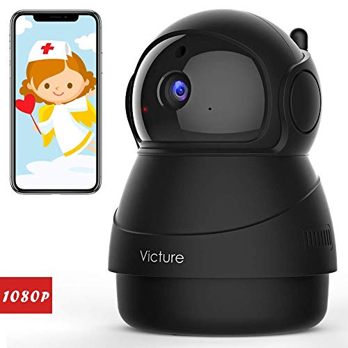 [Stay Strong, USA] Victure 1080P FHD Pet Camera with WiFi IP Camera Indoor Wireless Security Camera Motion Detection Night Vision Home Surveillance Baby Elder Monitor with 2 Way Audio iOS/Android