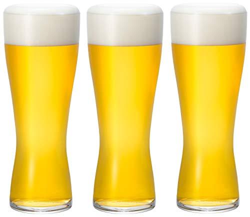アデリア ビールグラス クリア 415ml 薄吹き ビアグラス L 14オンス グッドデザイン賞受賞品 3個セット 食器洗浄機 対応 日本製 B-6771