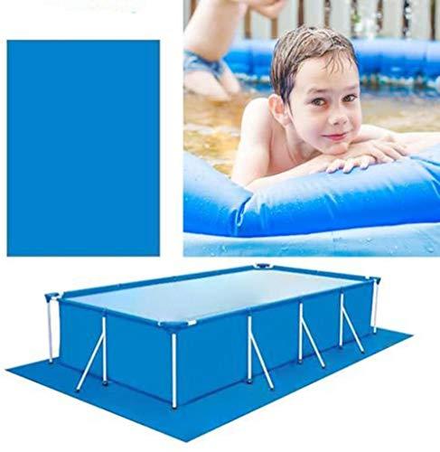 Nobranded Alfombra rectangular o redonda para piscina, protección de piscina inflable plegable para la piscina sobre el suelo (S, rectángulo)