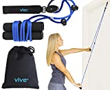 Vive Shoulder Pulley - Over Door Physiotherapy Rehab Rope Exerciser for Rotator Cuff Rehab - Arm Rehabilitation Exercise for Frozen Shoulder Physical Therapy, Flexibility Stretching Strengthener