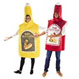 Hauntlook Ketchup & Mustard Couples Costume - Funny Food Unisex Outfits