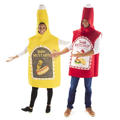 Ketchup and mustard cheap and funny couples costume for halloween