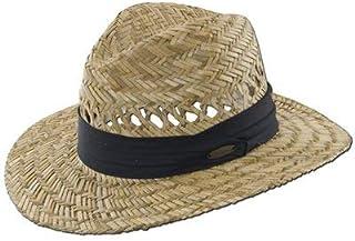 "Panama Jack Safari Straw Hat - Lightweight, 3"" Big Brim, Inner Elastic Sweatband, 3-Pleat Ribbon Hat Band"