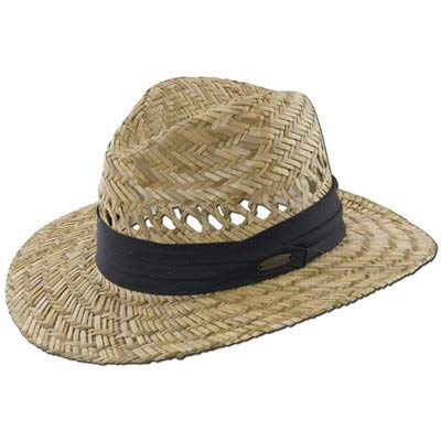 Panama Jack Safari Straw Hat - Lightweight, 3' Big Brim, Inner Elastic Sweatband, 3-Pleat Ribbon Hat Band (Black, Large/X-Large)