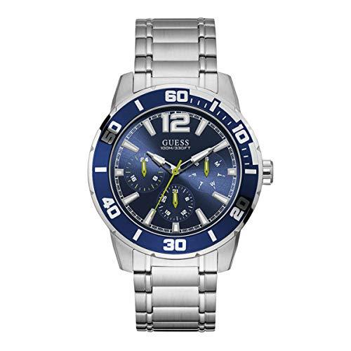 Guess Reloj Analógico para Hombre de Cuarzo con Correa en Acero Inoxidable W1249G2