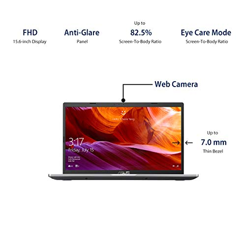 ASUS VivoBook 15 (2020) 15.6-inch (39.62 cms) FHD, Intel Core i3-10110U 10th Gen, Thin and Light Laptop (4GB/1TB HDD/Office 2019/Windows 10/Integrated Graphics/Silver/1.9 Kg), X509FA-EJ311TS
