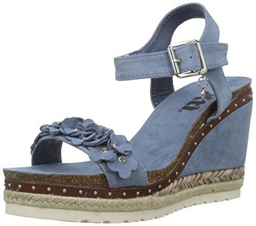 XTI 48921, Sandali con Plateau Donna, Blu (Jeans Jeans), 38 EU