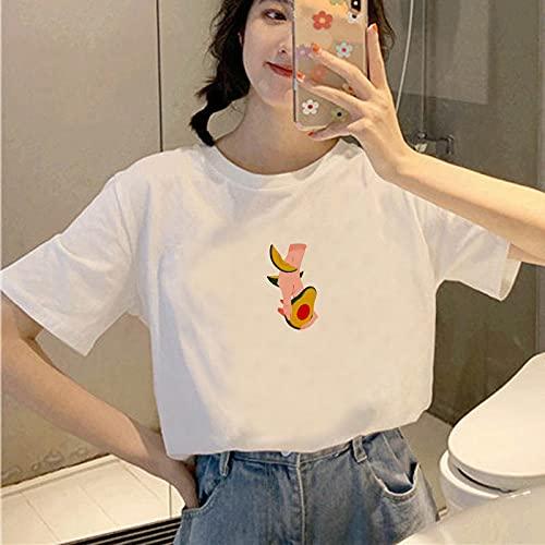 HUITAILANG Camisetas para Mujer,Impresión De Gestos De Moda De Estilo Vintage, Divertida Camiseta De Verano para Mujer, Camisetas De Manga Corta De Princesa Vogue, Color 7, X, Grande