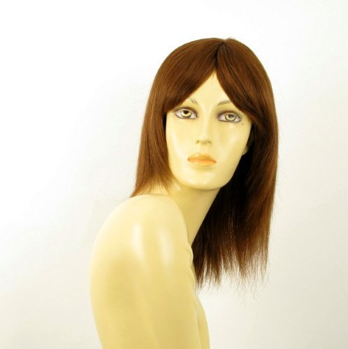 woman hair wig 100% natural light brown long smooth copper ref TATIANA 30 by WIG UNIVERS