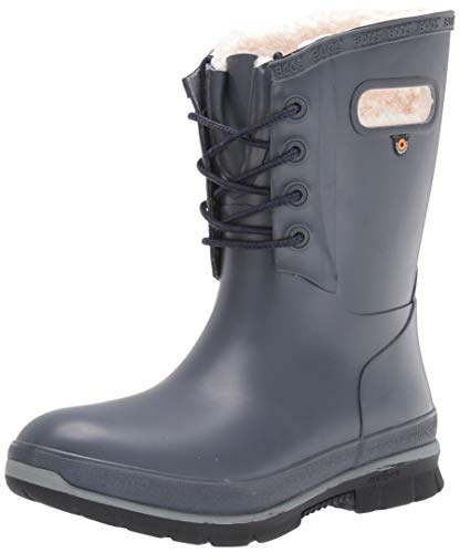 BOGS Women's Amanda Plush Snow Boot, Dark Blue, 12