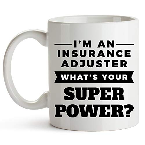 DJNGN Insurance Adjuster Mug, 11 Ounces, Funny Insurance Adjuster Coffee Cup