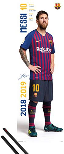 1art1 Fútbol Póster para la Puerta (158x53 cm) FC Barcelona 2018/2019 Messi...