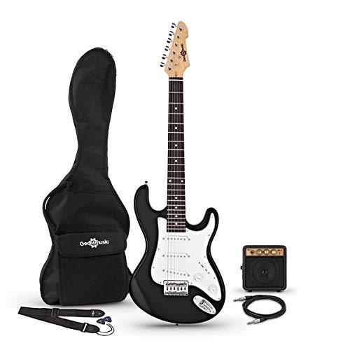Guitarra Eléctrica 3/4 LA + Miniamplificador Black