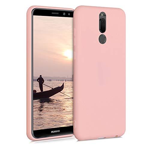 kwmobile Cover Compatibile con Huawei Mate 10 Lite - Cover Custodia in Silicone TPU - Backcover Protezione Posteriore - Oro Rosa Matt