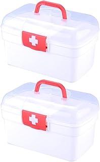 Mankoo Cassetta di Pronto Soccorso Portamonete A Mano Contenitore per Medicinali Scatola di Pronto Soccorso Scatola Contenitore Contenitore per Uso Domestico