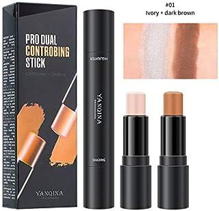 Meifen 2 in 1 Foundation Stick Contour Highlighter Stick Contour Stick,Face Highlighters,Double-end Make up Concealer Cont...