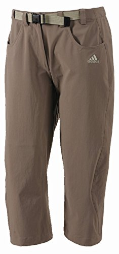 adidas, Pantaloni a 3/4 da Outdoor Donna Ht Flex, Grigio (Titan Grey/Sesame), 40