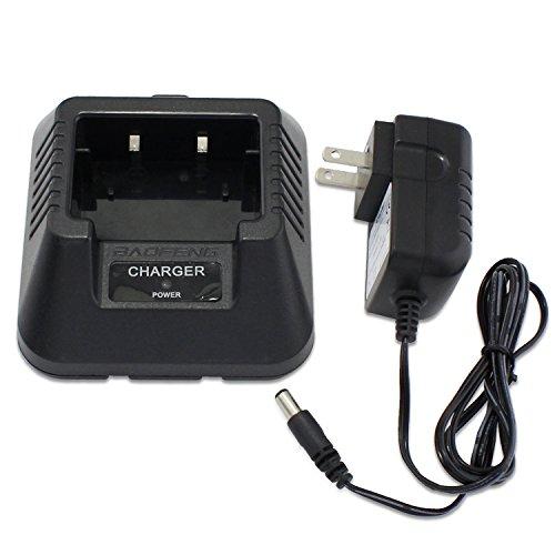 abcGoodefg Baofeng Cargador de batería de sobremesa compatible con radios de 2 vías Baofeng UV5R UV5RB UV5RB UV5RD UR5RE UR5RE-PLUS (tipo Us)
