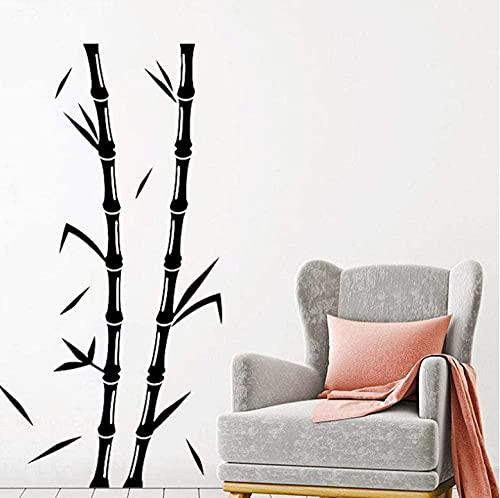 Pegatinas de pared Vinilo Bambú Árbol Dormitorio Sala de estar Tatuajes de pared Adornos extraíbles Diseño de interiores Diseño mural Hoja 42x81cm