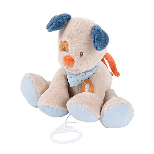 Nattou Spieluhr Hund Jim, Wiegelied «La-Le-Lu», ca. 30 cm, Jim und Bob, Beige/Blau/Braun