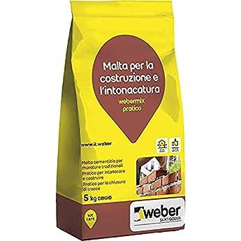 Foto di webermix pratico Malta pratica di cemento pronta all'uso, grigia, 5 kg