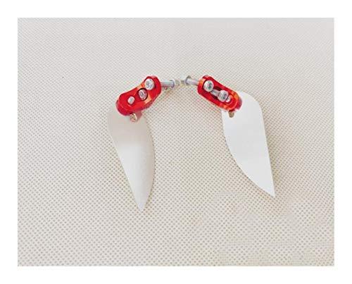 LANGPIAOEZU Ancho 1 par de Aletas Turn E36 Espada Barco del Metal del Modelo de Chorro de Agua de 54,5 * 21 mm de Piezas de Repuesto Bueno (Color : White)