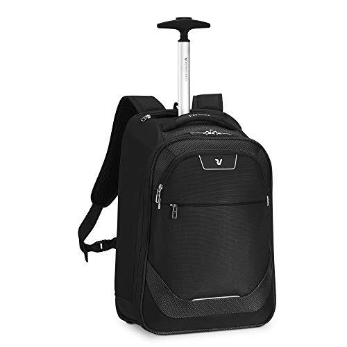 RONCATO Joy mochila trolley negro, medida: 43 x 32 x 18 cm, compartimentos interiores para la organización interna de todas tus cosas, Garantía de 3 años