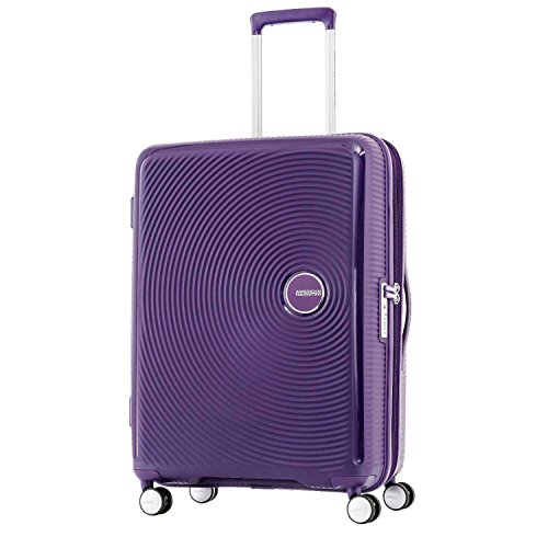 American Tourister Curio Hardside Luggage with Spinner Wheels, Purple, Carry-On 20-Inch