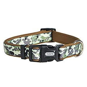 YUDOTE Durable Dog Collar with Classic Camouflage Pattern, Neoprene Padded Soft and Comfortable, Adjustable Collars for Male Dogs & Puppies