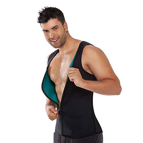 ASXQN Corset Fermeture à glissière en néoprène Sport Fitness Corset Hommes extrêmement Mèche Hot Shapers,M