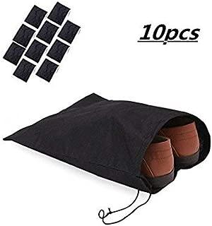 Westeng Sacs /à chaussures en Non-tiss/é Drawstring Shoe Sacs Anti-poussi/ère Respirante Portable Durable pour Voyage Lot de 10
