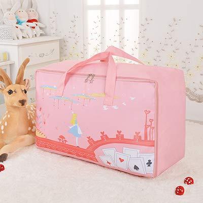 XKMY Bolsas de ahorro de espacio, no tejidas, portátiles, bolsa de almacenamiento, organizador de colchas, organizador plegable para guardarropa para niños (color: 03, tamaño: grande)