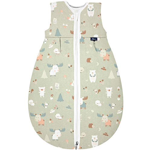 Alvi Mäxchen Thermo Schlafsack ohne Arm Design Baby Forest (Größe 90)