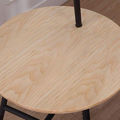 HYY-YY Floor Lights Coffee Table Vloerlampen, Floor Lights for Living Room Nordic Modern Simple Guest Room Bedroom Lamp Lamp inbegrepen, Black Walnut Kleur (Color : Wood Color)