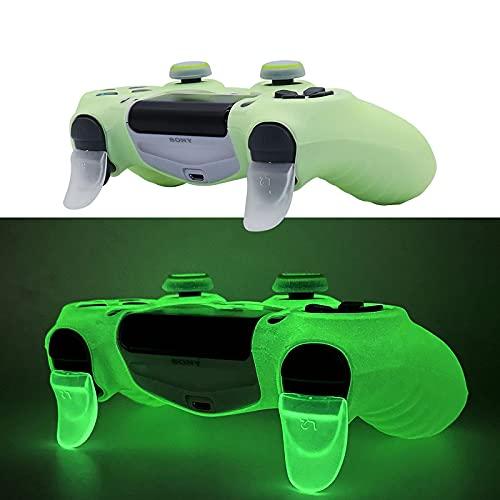 HLRAO PS4 Controller Skin Silikonhülle Grip Glow in Dark Schutzhülle für PS4/Slim/Pro Dualshock 4 Controller.