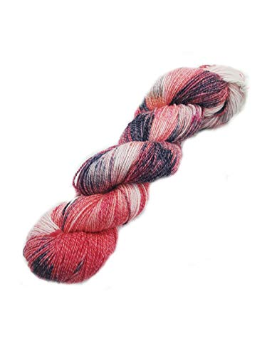 Sockenwolle Merino-Cotton-Silk 400 handgefärbt - 100 g/400 m - 44% Schurwolle / 22,5% Baumwolle / 22,5% Polyamid / 11% Seide (Australische Schurwolle 22 Mikron) -CS0032