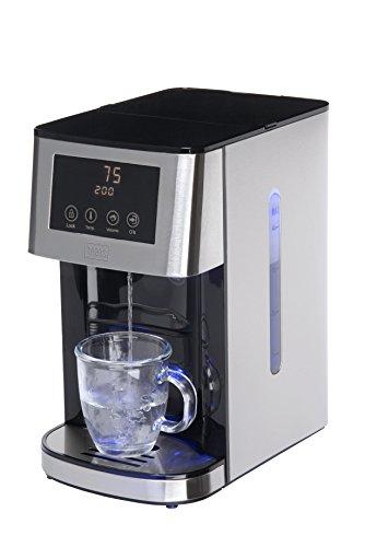 Trebs Heißwasserspender mit 4 Liter Tank, 55 – 100°C, höhenverstellbar, 2 Tropf- und Auffangschalen, Edelstahl-Optik