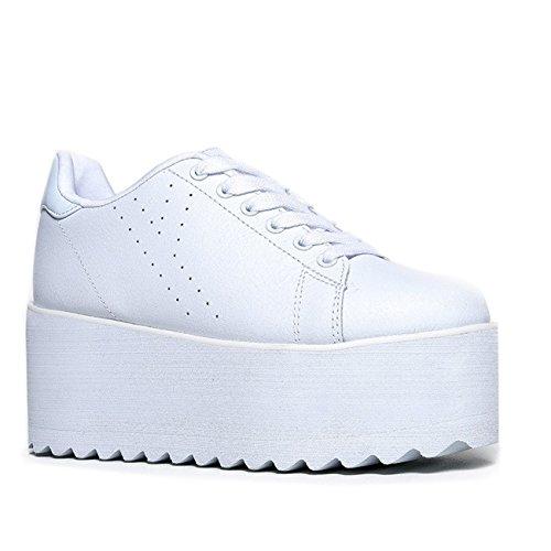 YRU Lala Platform Sneaker White 10