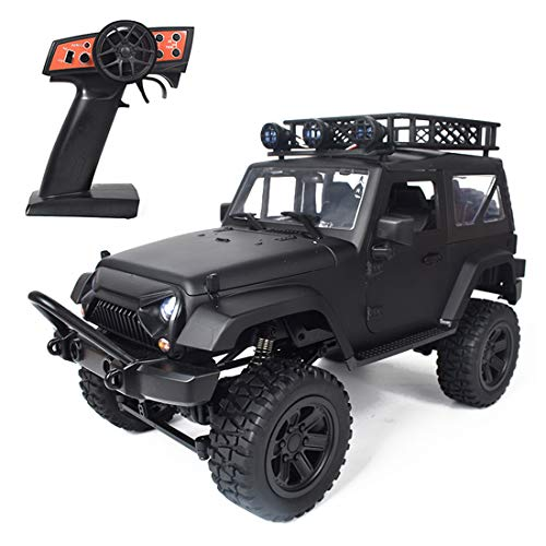 Myste Coche teledirigido 1:14 2.4G 4WD 20KM/H RC Auto Offroad Buggy Jeep Auto todoterreno Coche teledirigido Auto Crawler Auto juguete con iluminación LED, regalo para niños y adultos