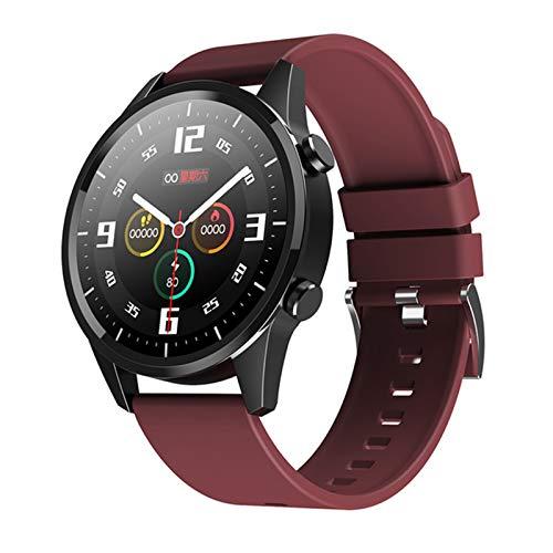LVF Nuevo F35 Smart Watch Men's Bluetooth Call Impermeable Custom Dial Fitness Tracker Pulsera Deportiva Pulsera Inteligente para Android iOS,G