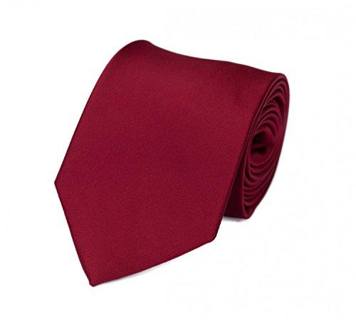 Krawatte rot einfarbig von Fabio Farini